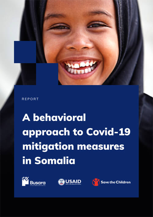 A behavioral approach to Covid 19 mitigation measures in Somalia
