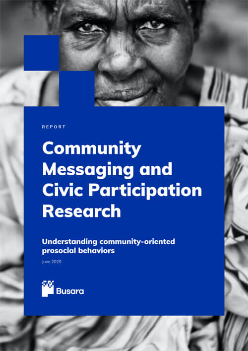 Community messaging and civic participation research