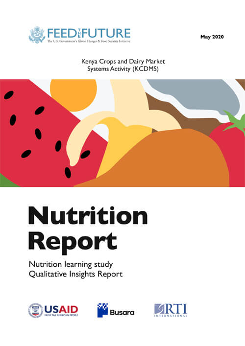 Nutrition learning study qualitative insights report